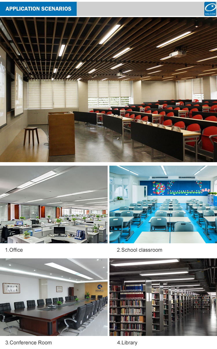 CE approval Classroom office 1.2M 1.5M 1.8M 20w 30w 40w 60w 80w linear led batten light
