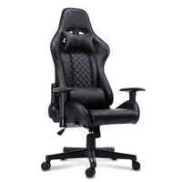 low price comfortable PU black silla gamer Reclining computer gaming Chair with footrest