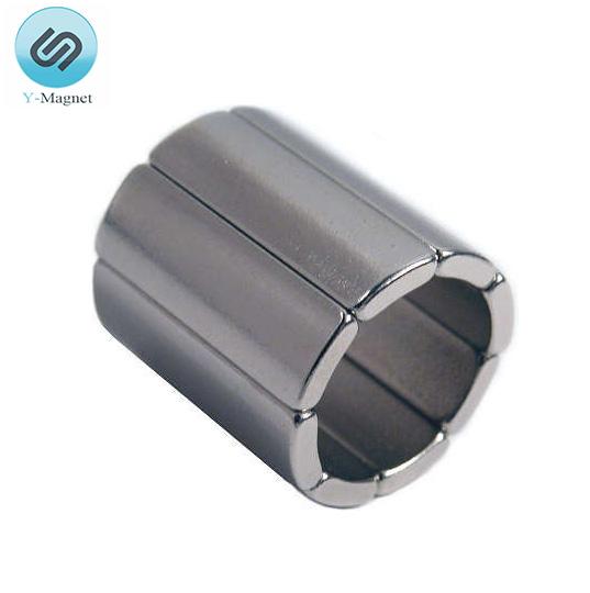 High Performance Rare Earth Neodymium Arc Magnet for Motor
