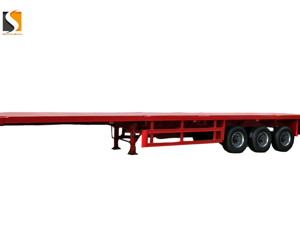4 Trục 40 Ft 45ft Phẳng Giường Phẳng Container Trailer Bán Sử Dụng Xe Tải Trailer