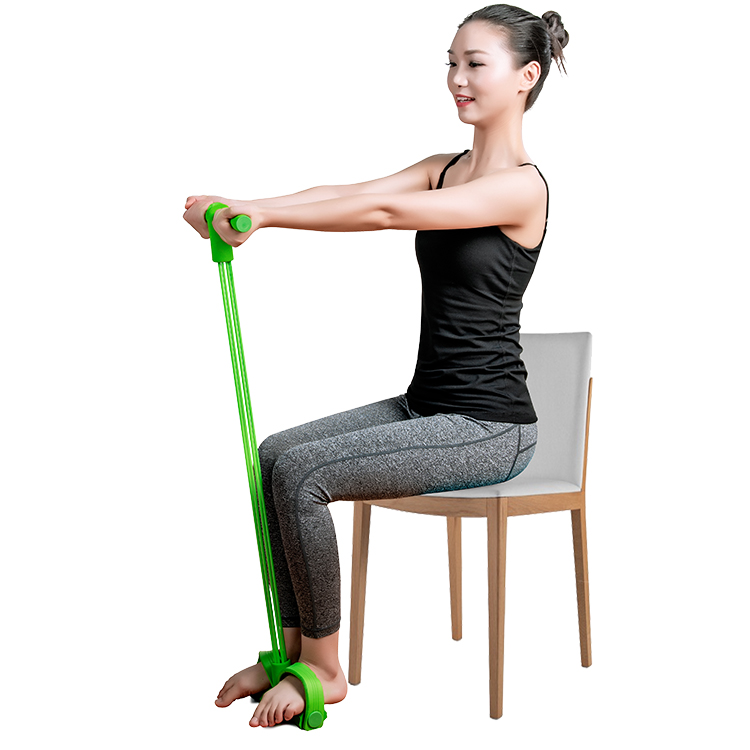 Resultado de imagem para Indoor Fitness Resistance Bands Exercise Equipment Elastic Sit Up Pull Rope Workout Bands Sport Pedal Ankle Puller""