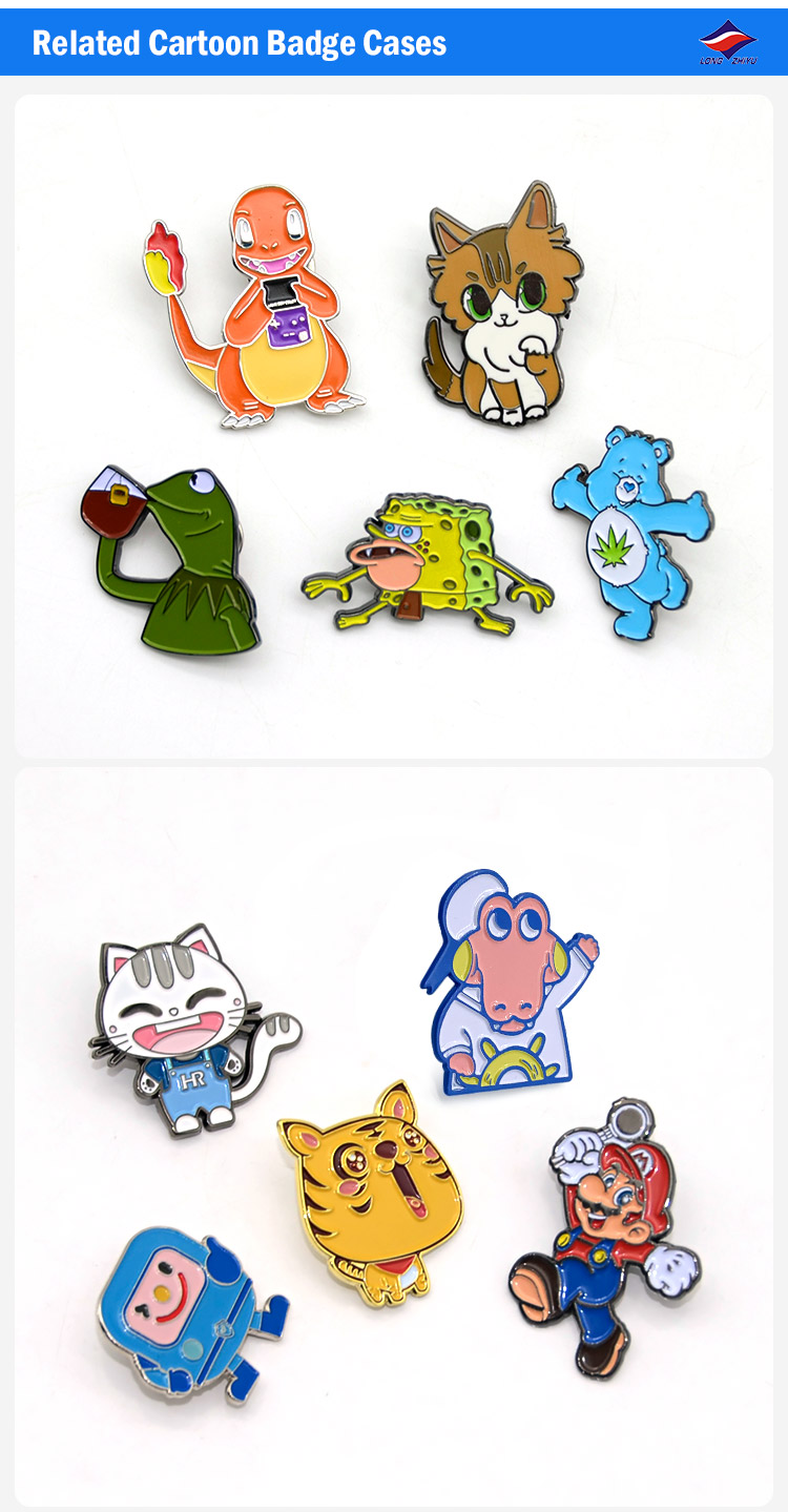 CUSTOM ป้ายโลหะครอบครัวการ์ตูนออกแบบ Pins สำหรับของขวัญเด็ก Longzhiyu 14 ปีผู้ผลิตมืออาชีพ