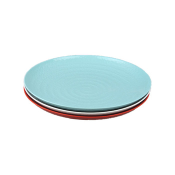 Custom color high quality plastic melamine dinnerware plate for restaurant