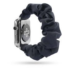 Эластичная резинка для Apple Watch 6, 5, 4, 3, 38 мм, 40 мм, 42 мм, 44 мм, спортивный ремешок, женский браслет для iwatch, наручные серии 5, 4(Китай)