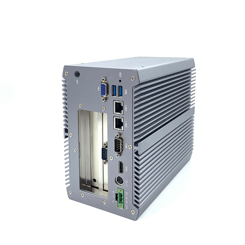 Doppio display core i3 i5 i7 fanless pc industriale computer con pcie