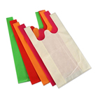 Biodegradable recycled carry t-shirt non woven vest shopping bag