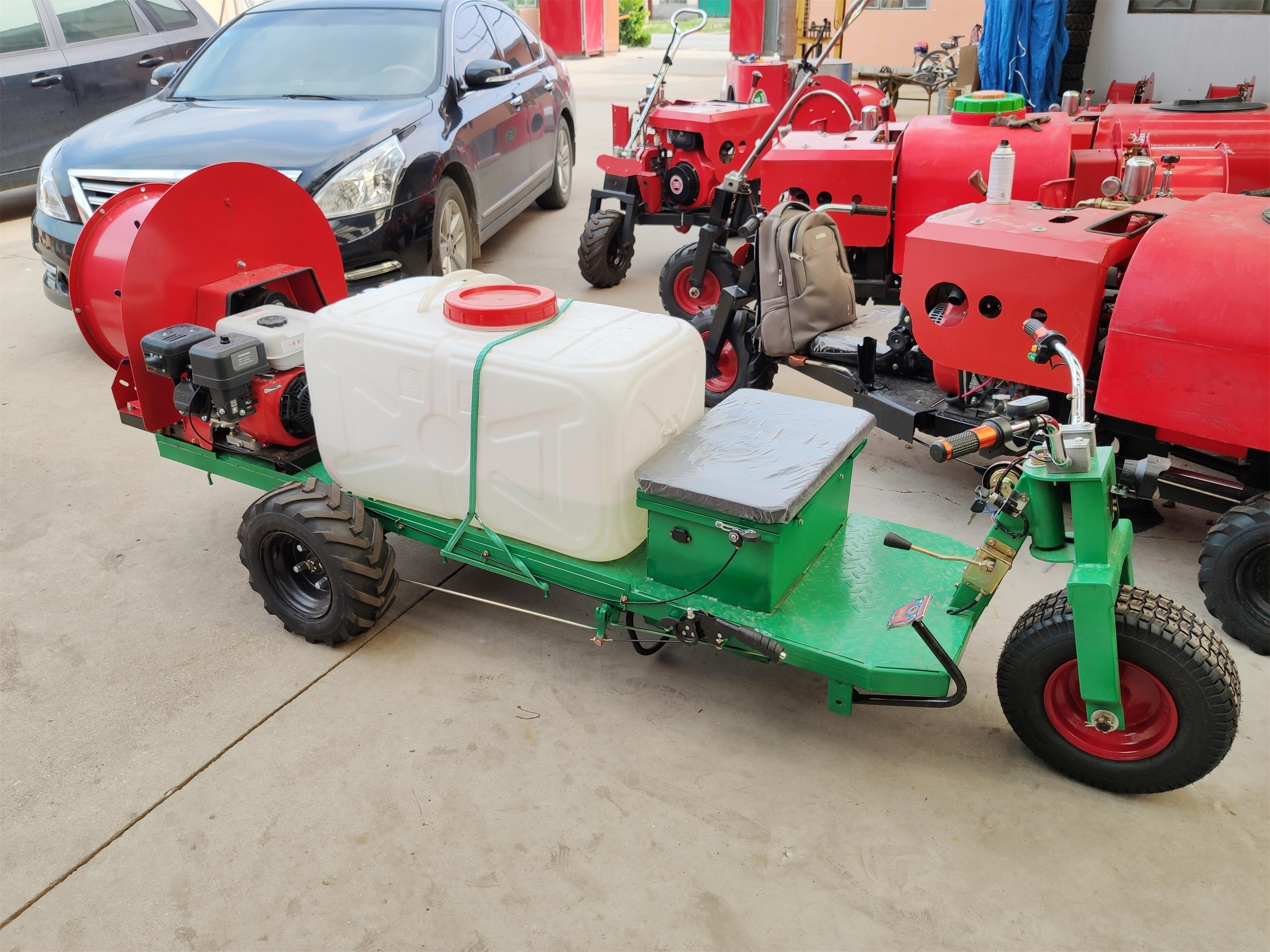 Fruit tree air blast orchard power sprayer