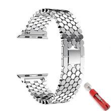 Ремешок для Apple watch band 4 5 iwatch 44 мм 40 мм ремешок 42 мм для apple watch 5 4 3 2 1 аксессуары браслет из нержавеющей стали(Китай)