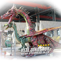 Outdoor Decoration Attractive Statue Life Size Animatronic Dragon