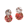 Fashion Acrylic Resin Earrings Jewelry Trend 2019 Acetate Stud Earrings Bulk Silvertone Round Disc Earrings For Women