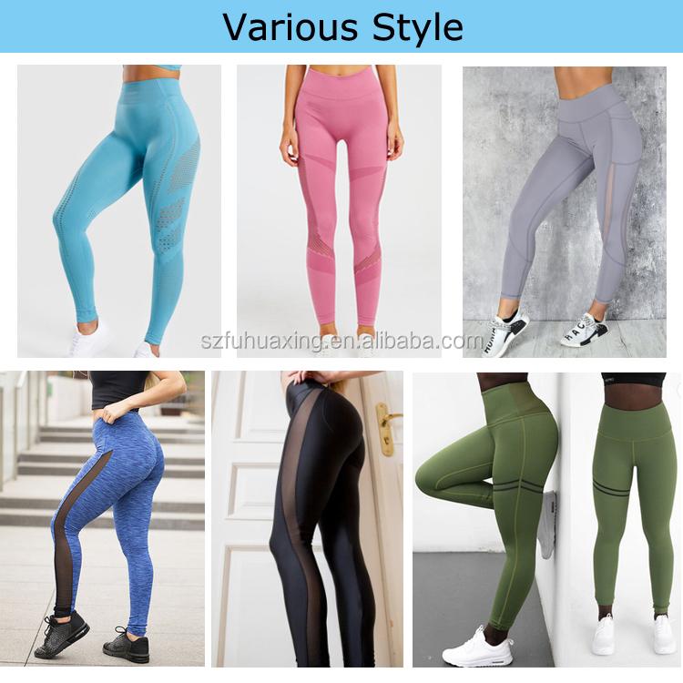 Yüksek Kaliteli Spor Sıkıştırma Tayt Rpet Gym Yüksek Bel Kadın Geri Dönüşümlü Yoga Pantolon