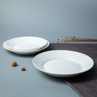 China Dinnerware Supplier Round White Porcelain Plate For Restaurant, Best Fine Dining Plates