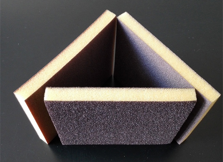120x100x12mm Double-sided Sponge Sand Block Sponge Sandpaper