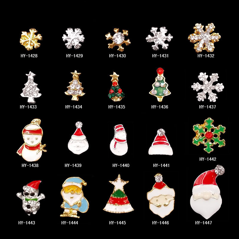 2019 Hot Selling Christmas Multiple Designs Optional Alloy Nail Glitter