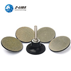 "Pad Back Quality Sanding Disc Z-Lion High Quality 2"" Diamond Polishing Pad With Roll Lock Back Holder Wet Use Granite Marble Gemstone Sanding Disc"