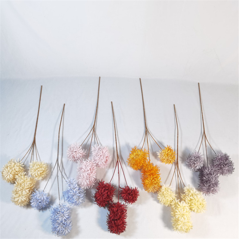 Newly 3 Heads Hanging Artificial Plastic Flowers for wedding Decoration