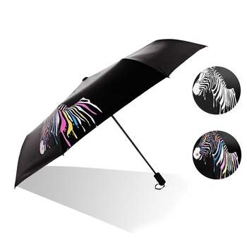 21inches Fancy Design Special Rainproof Magic Color Changing Umbrella When Wet