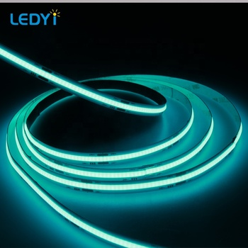 No light dot FOB 24V DC blue color 480chips per meter Flexible cob led strip light