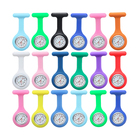 Multi Color Quartz Movement Mechanical Nurse Fob Watch Women Breast Pockets Watch Brooch Silicone Nurse Watch