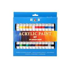 non toxic DIY painting drawing acrylic detail paint set 24 colors
