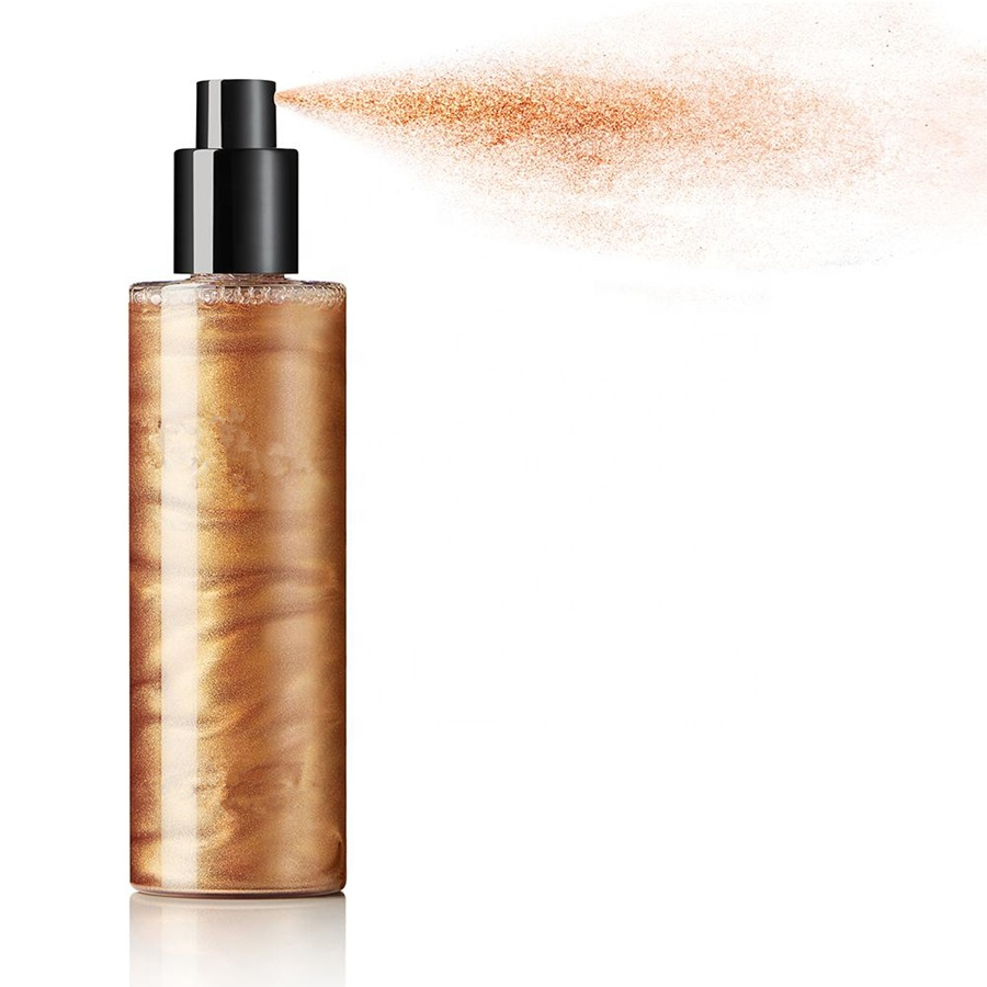 Cosmetics Makeup Highlighter Spray 100ml Makeup Private Label Shimmer Liquid