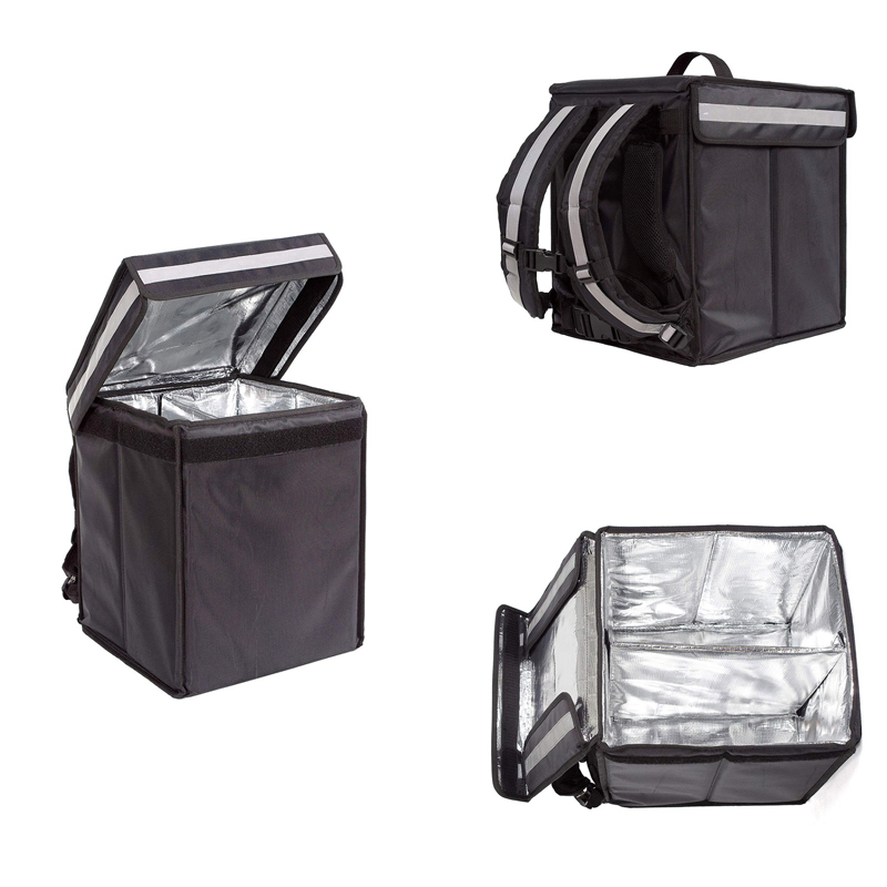 Изолированный доставки еды сумка рюкзак тепловой производитель! Высокое качество доставки еды сумка-холодильник для мотоцикла