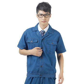 Summer short sleeve and long sleeve jeans jacket wholesale custom wear-resistant factory worker uniforms