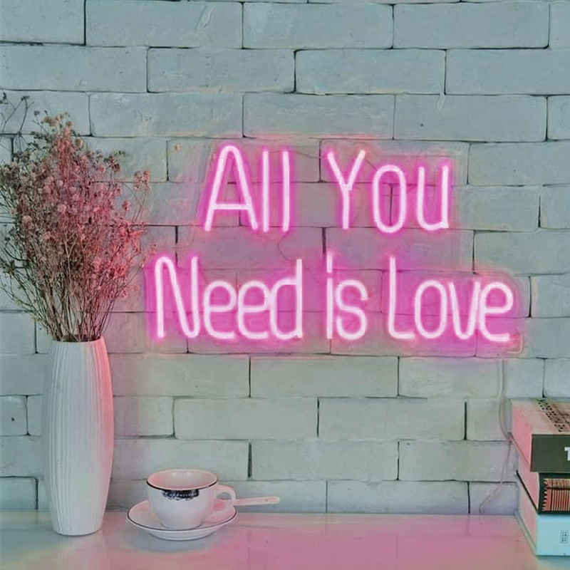 Most Popular Customized Acrylic Neon LED Letters Light for Wedding and Christmas Decoration