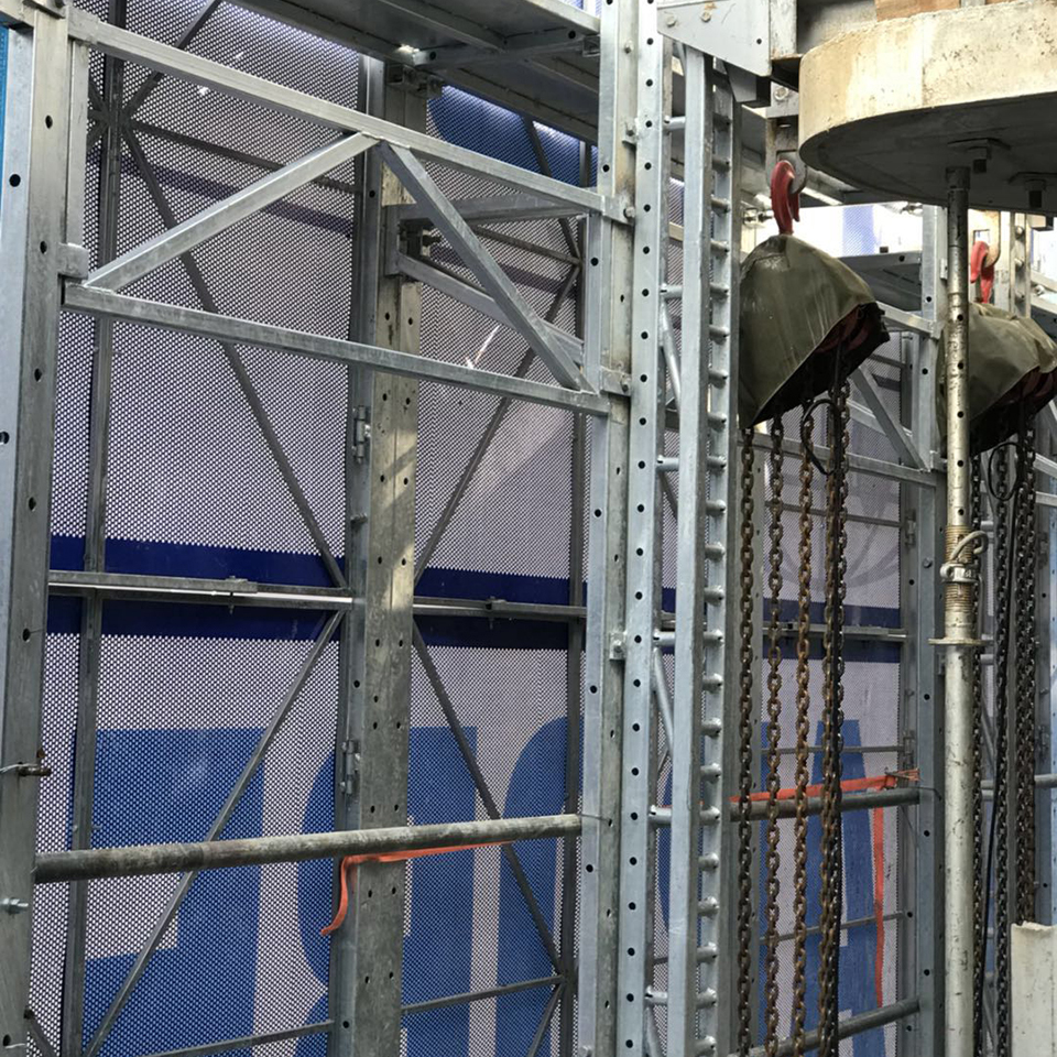 Suspended anti rust assembled shuttering full-steel protective construction working platform