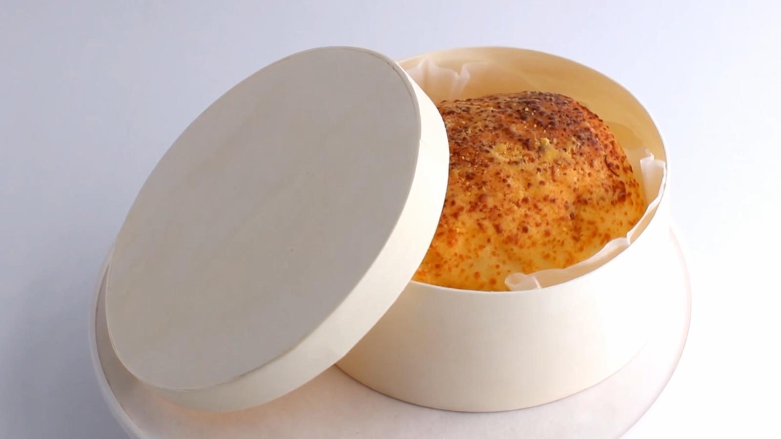 Biyobozunur ahşap paket servisi olan restoran yiyecek kutusu yuvarlak kek kaplama kutusu ahşap peynir kutusu