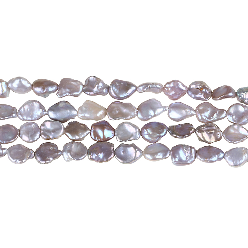 14mm natural keshi pearl strand