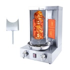 GRACE New Product Gyro Grill with 2 Burner Vertical Broiler for Commercial Sale Mini Shawarma Doner Kebab Machine