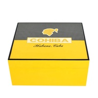 COHIBA Piano Cedar Cigar Humidor Box with Cigar Ashtray Cigar Cutter Set