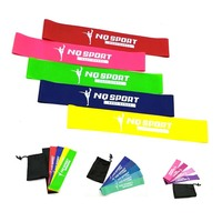 Gym Sports Exercise Stretch Latex Loop Elastic Latex Resistance Band set of 5