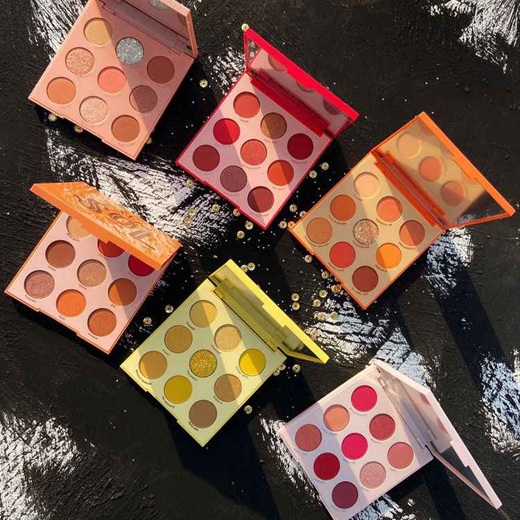 Cosmetics eyeshadow palette vendor pressed glitter 9 fruit bright color waterproof high pigment candy eyeshadow