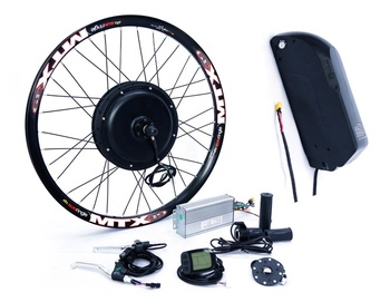 "26"" electric bike ebike conversion kit with battery 2000w"