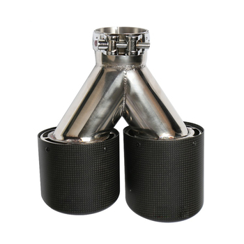 Exhaust Dual Carbon Fiber Custom Exhaust Tail Pipe For Akrapovic