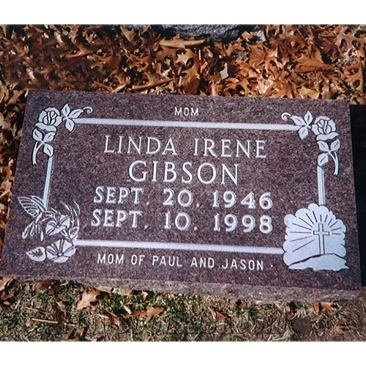 American Granite Slant Grave Markers With Good Quality