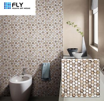 Hexagon Aluminum Gl Mix Color Mosaic