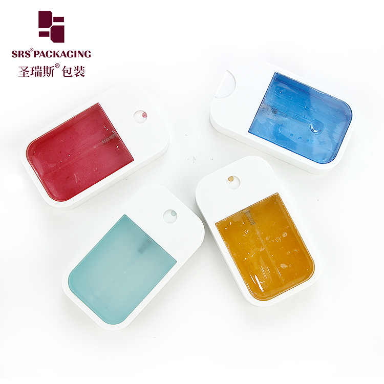 Hot selling empty plastic pocket phone shape 45ml spray perfume bottle for hand sanitizer