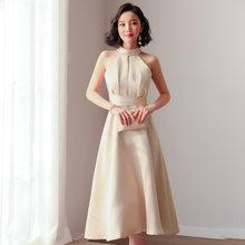 YULUOSHA 2020 новые сексуальные платья невесты, Холтер без рукавов Простой длиной до колен Свадебные Вечерние платья(Китай)