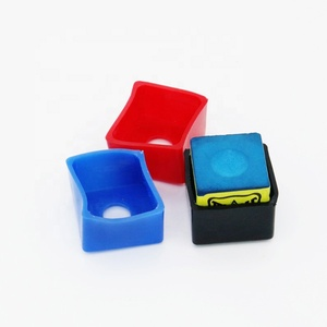 Plastic Material and 3 Color Choice Billiards Pool Chalk Cup Holders