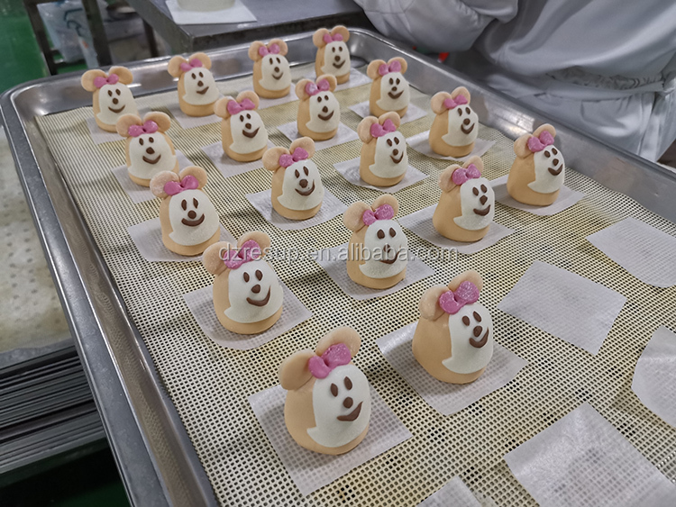 Original China Food Factory Quick Freeze Pastry Pasta Cartoon Bun Steamed Scuffed Cartoon Bun Dessert