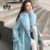 2020 Spring Trench Coat for Women New Fashion Big Fox Fur Collar Cashmere Coat