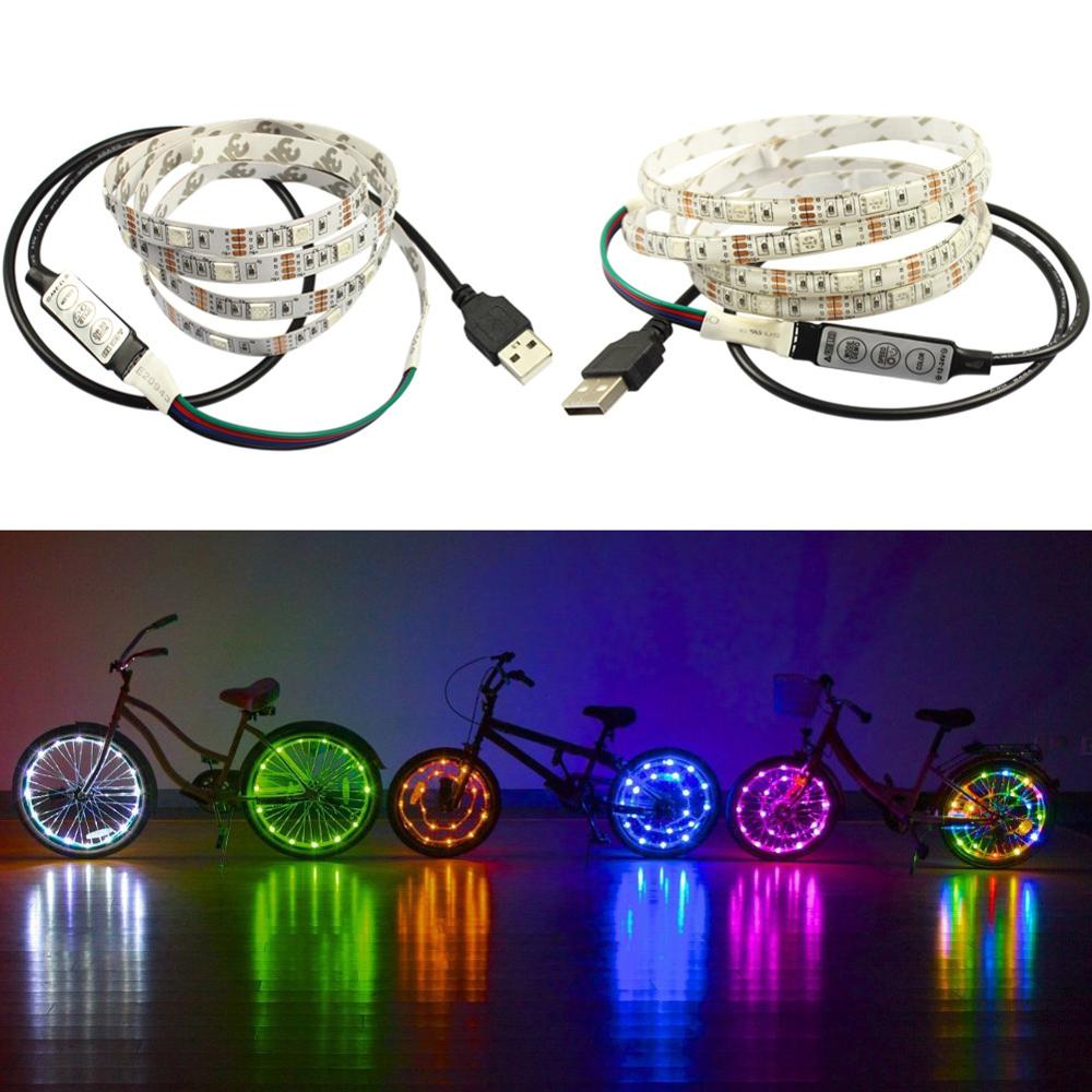 2M <strong>RGB</strong> 5050 DC 5V USB Powered LED Strip with 17keys RF Remote, Ambient Lighting Kit for TV and Desktop Monitor Background Light