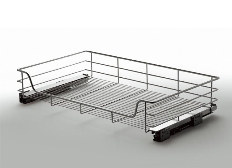 Unihopper kitchen cabinet organizer storage pull out four sides wire mesh basket T=800mm