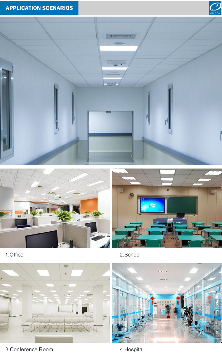 High quality hospital hotel 27w 36w 40w 50w led troffer light
