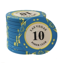14g Casino Baccarat Corona LAS VEGAS Disegno di Clay <span class=keywords><strong>Poker</strong></span> Chips Interno In Metallo con Trim Sticker