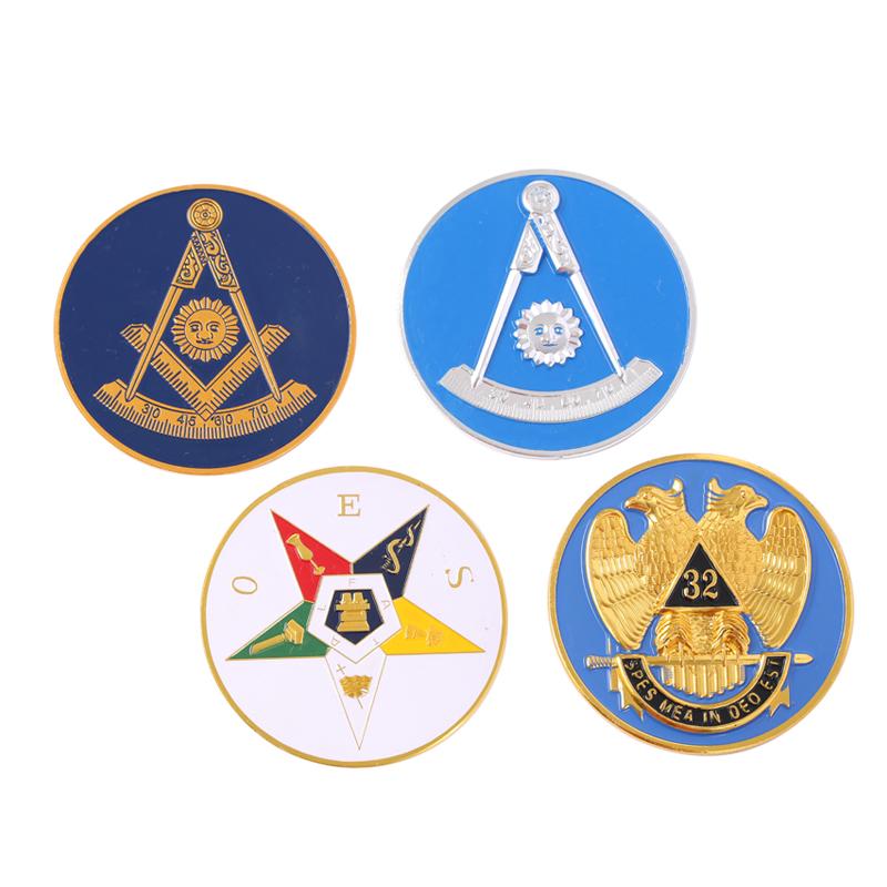 Hot Koop 3D Metalen Aangepaste Masonic Driehoek Vormige Auto Logo
