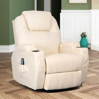 Modern American Style Electric Leather 8 Point Vibration Massage Heating Function Recliner Sofa Chair